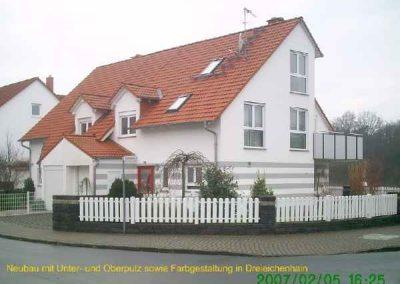 Verputzer Neubau in Dreieich incl. Anstrich
