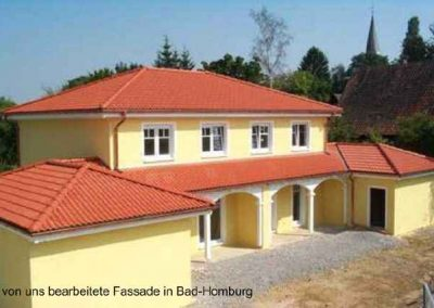 neue Fassade in Bad-Homburg