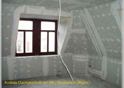 tapezierfertiges Dachgeschoß aus GK